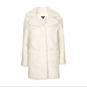 NEW Topshop Teddy Coat // Size 6